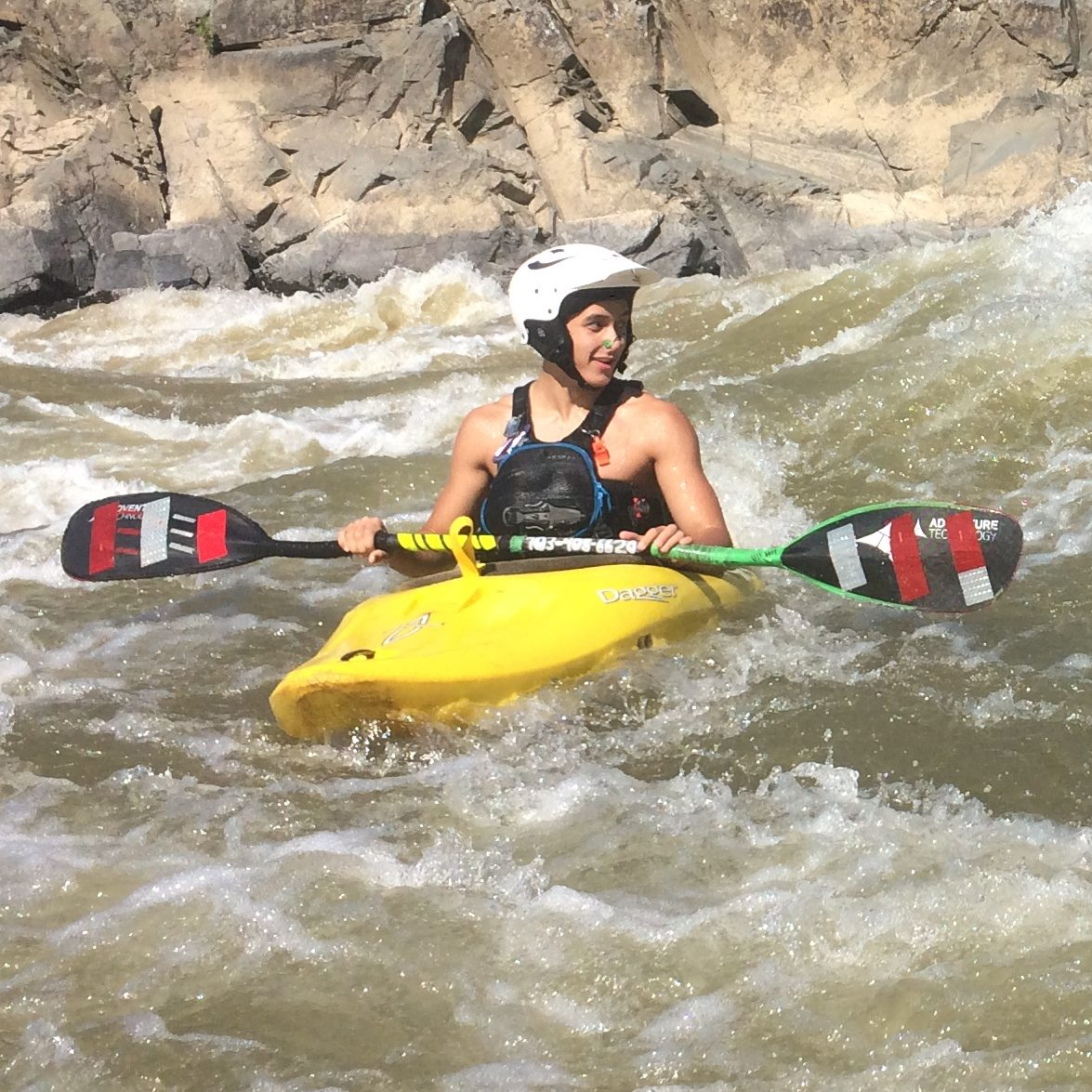 Dagger axiom surfing great falls Kayak lessons at Calleva