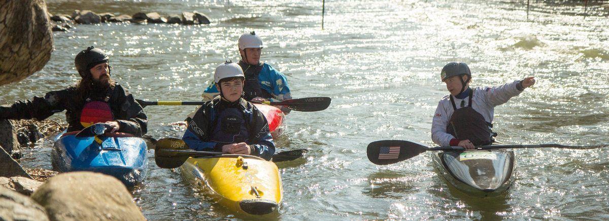 Ashley Nee Potomac River Learn to kayak kayak lessons