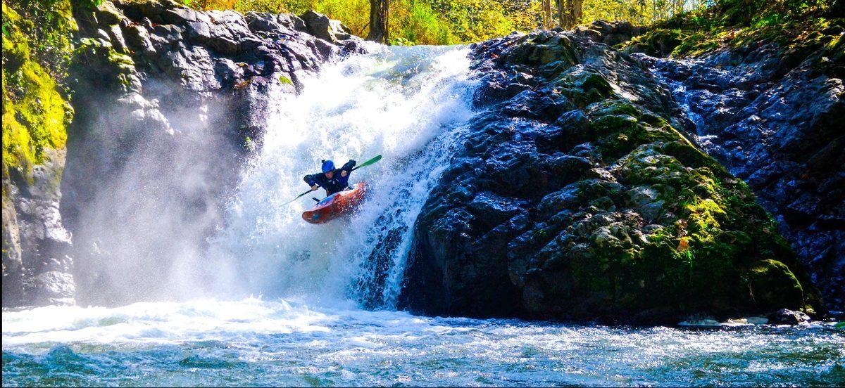 waterfall mexico kayak